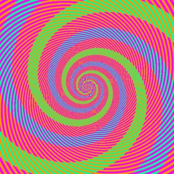 12.) The blue and green spirals? ... ... They're the EXACT same color.