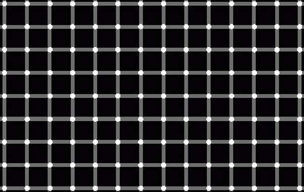 15.) Try to focus on one dot. ... ... Do you see the black dots?