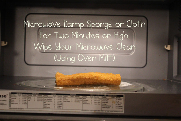 Clean your microwave and your sponge all at once.