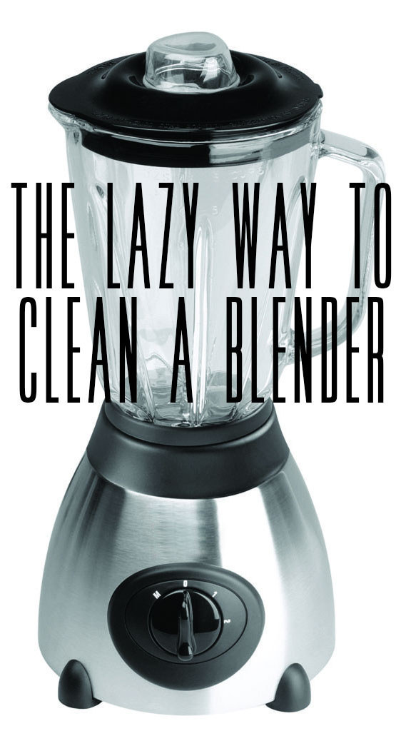 Blend soap and water to clean a blender.