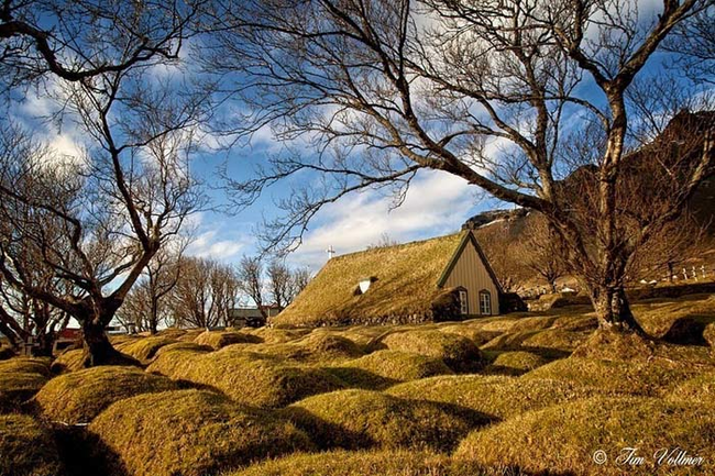 """While they're not the most """"stylish"""" buildings, these turf roofed structures have a certain kind of Old World beauty to them."""