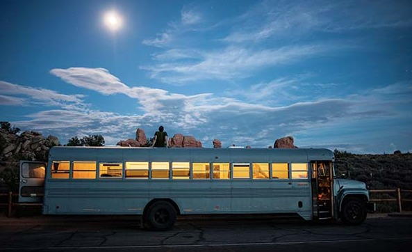 An Architecture Student Got Sick Of Normal Projects. So He Bought A Bus... And You Gotta See It Now.