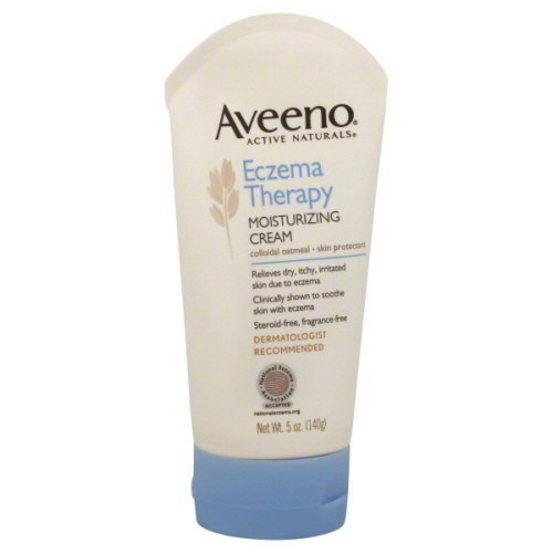 Aveeno Eczema Therapy Moisturizing Cream is super popular among eczema suffers for a good reason.
