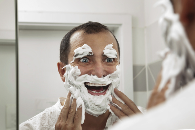 Leave shaving cream on for five minutes to avoid razor burn.